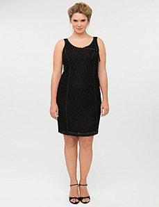 Sleeveless lace dress by Isabel Toledo