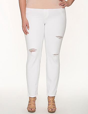 Destructed Mercer skinny jean by DKNY JEANS