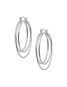 Sterling silver hoop earrings by Lane Bryant