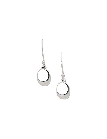 Sterling silver disc drop earrings by Lane Bryant