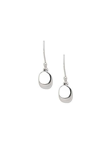 Sterling silver disc drop earrings by Lane Bryant