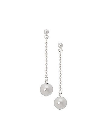 Sterling silver ball & chain earrings by Lane Bryant