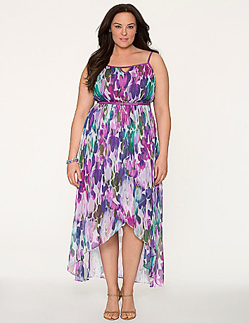 Printed tulip hem dress