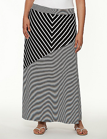 Chevron maxi skirt by Seven7