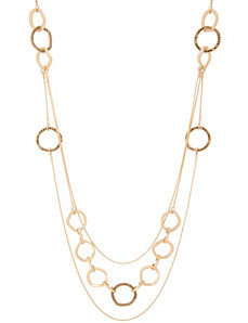 Tiered hammered ring necklace by Lane Bryant