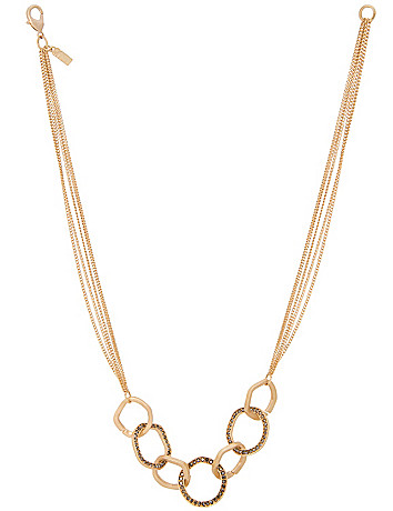 Hammered ring necklace by Lane Bryant