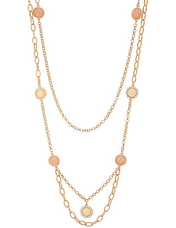 2-row link necklace with stones by Lane Bryant