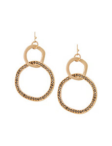 Hammered disc drop earrings by Lane Bryant