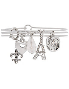 Eiffel Tower charm bracelet trio by Lane Bryant