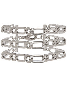3 row flat link bracelet by Lane Bryant