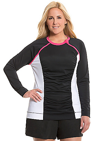 Colorblock rash guard