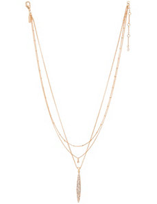 Triple chain rhinestone necklace by Lane Bryant