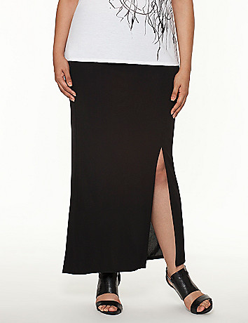 Lane Collection zippered maxi skirt
