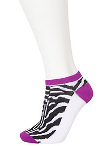 Animal & solid sport socks 3-pack