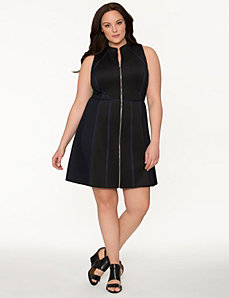 Lane Collection textured block dress