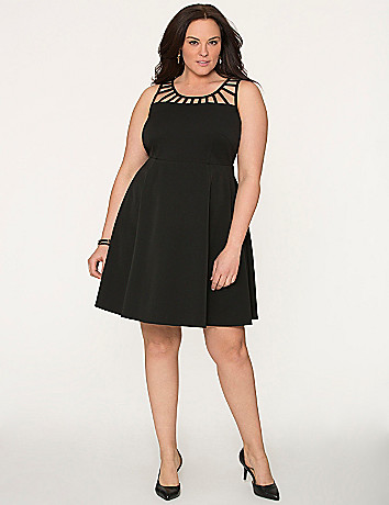 Lattice top skater dress