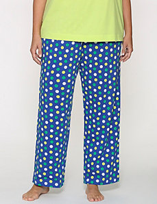 Polka dot knit sleep pant