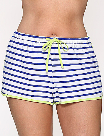 Striped sleep shorts