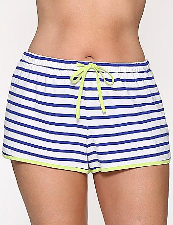 Striped sleep shorts