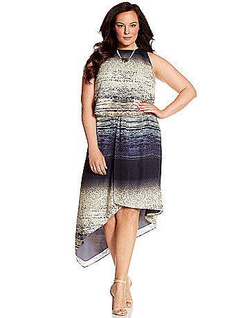 Lane Collection layered printed dress