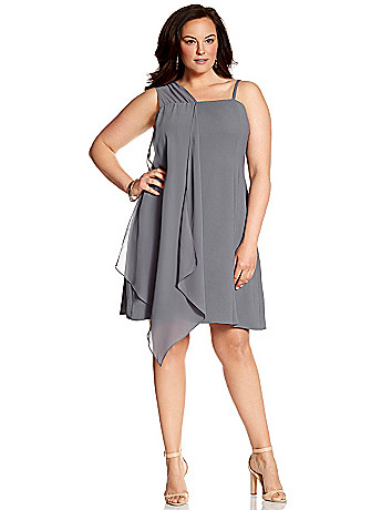 Lane Collection slip dress with chiffon