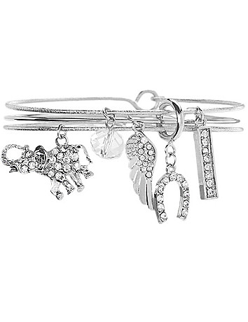 Elephant charm bracelet trio by Lane Bryant