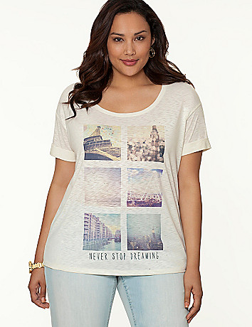 Full Figure Dreaming Tee by Lane Bryant