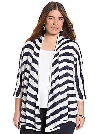 Striped dolman cardigan