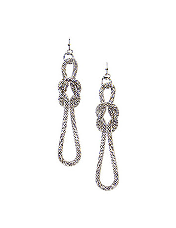 Knotted mesh chain earrings by Lane Bryant