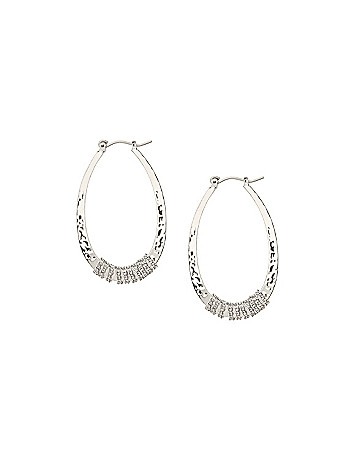Chain wrapped teardrop earrings by Lane Bryant