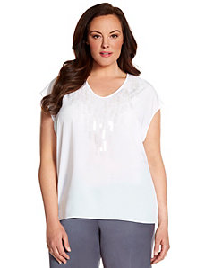 Lane Collection paillette sequin top