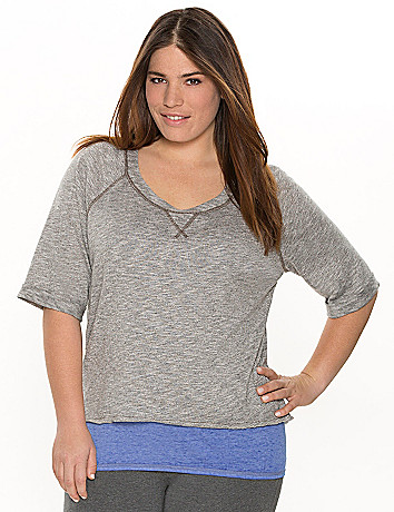 Layered-look sweatshirt
