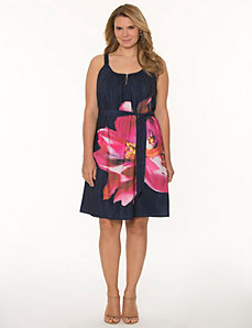 Placed floral dress