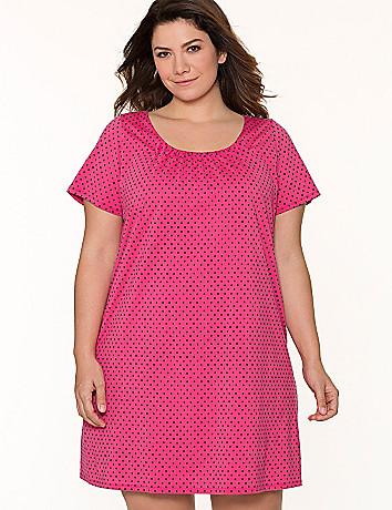 Polka dot sleep shirt