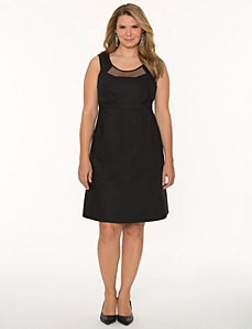 Mesh inset sheath dress