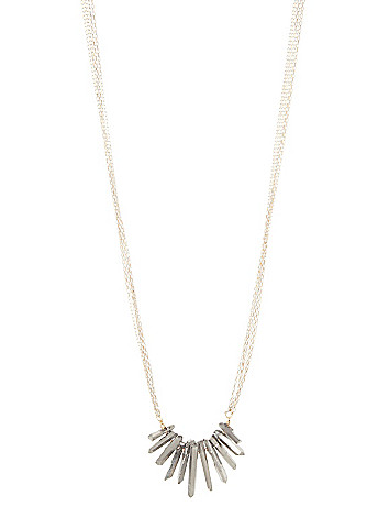 Lane Collection long shard necklace