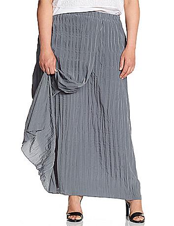 Lane Collection crinkled wrap skirt