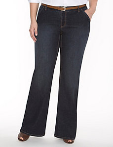 Genius Fit™ flared trouser jean