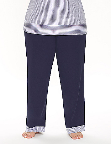 Sleep pant with striped trim