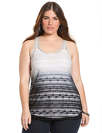 Ombre lace tank by Lane Bryant