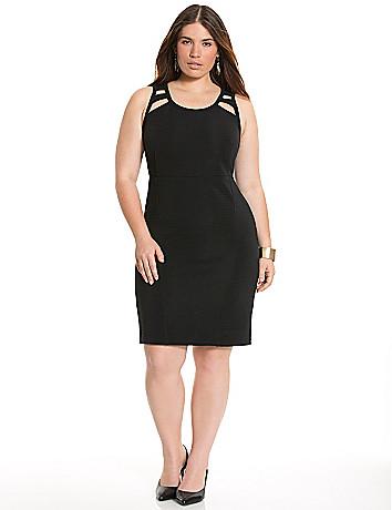 Cut-out sheath dress
