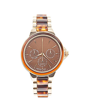 Tortoiseshell link watch by Lane Bryant