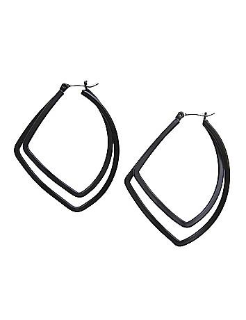 Hammered teardrop earrings by Lane Bryant