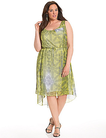 Lane Collection floral Grecian dress