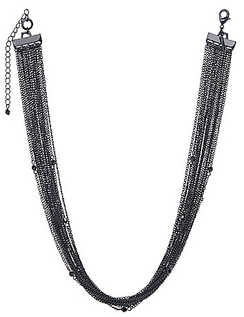 Matte multi chain necklace by Lane Bryant