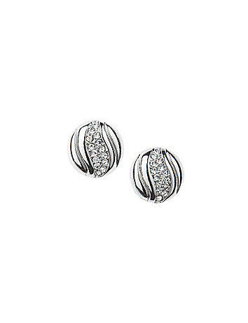 Cubic zirconium dome earrings by Lane Bryant
