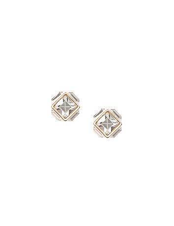 Square rhinestone earrings by Lane Bryant