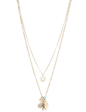 Cluster pendant necklace by Lane Bryant