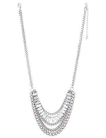 Mixed chain & stone necklace by Lane Bryant