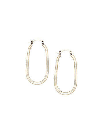 Brushed oval earrings by Lane Bryant